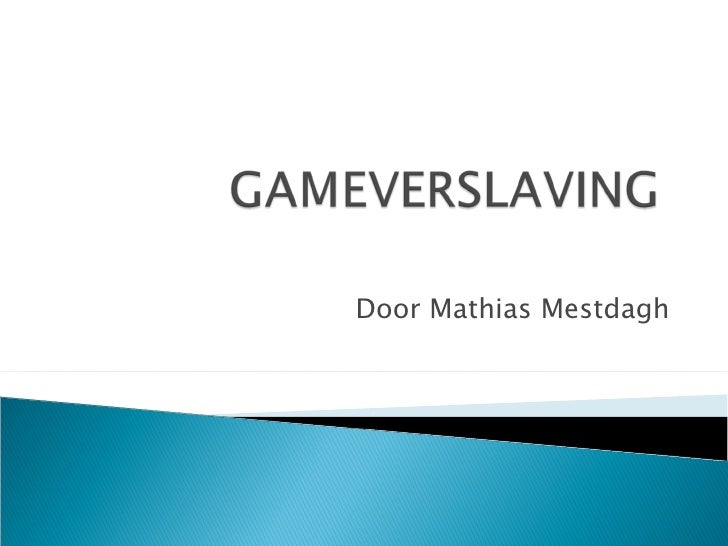 Door Mathias Mestdagh