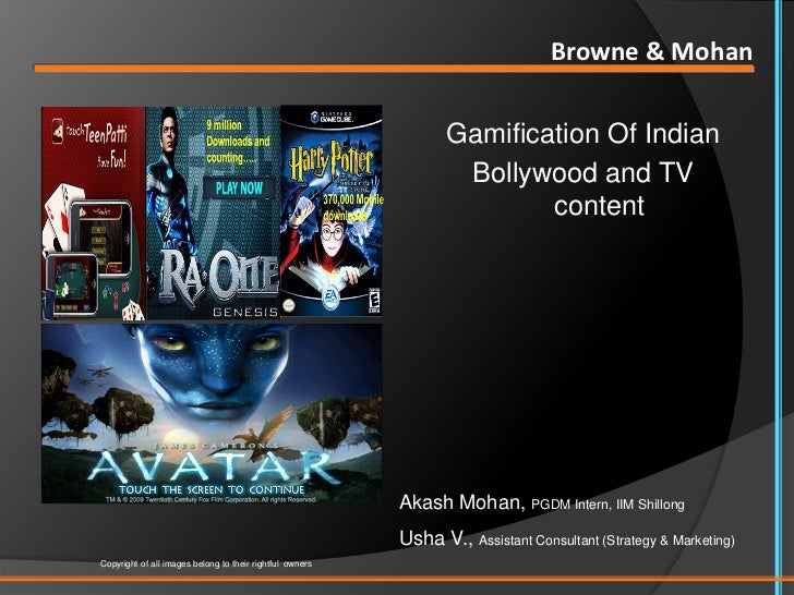 Gamification of Indian Bollywood/TV content