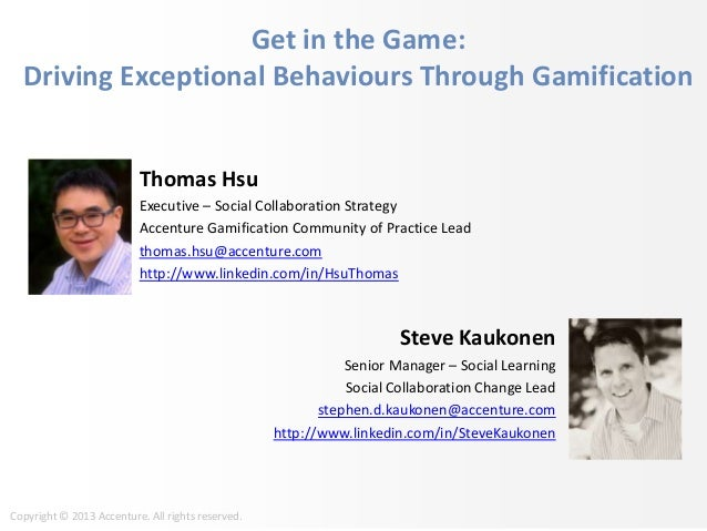 Accenture on Gamification