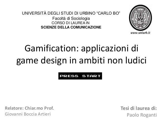 Gamification - applicazioni di game design in ambiti non ludici