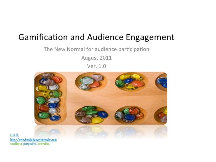 Gamificaon and Audience Engagement                           The New Normal for audience parcipaon     ...