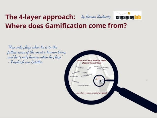 Gamification 4 layer approach