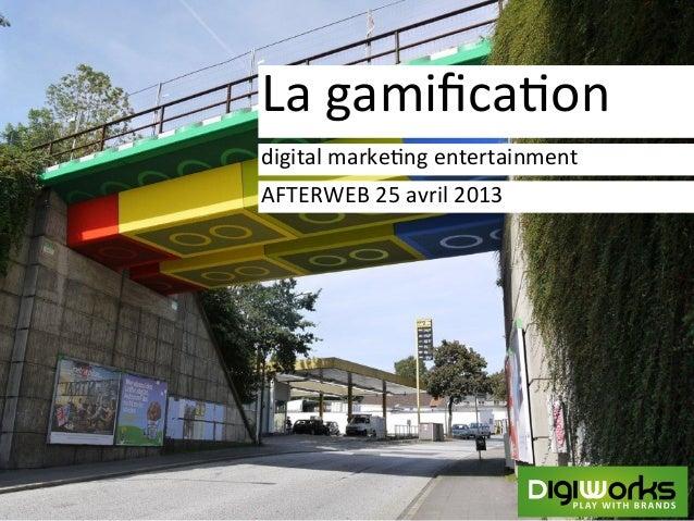 Qu'est ce que la Gamification ? (par Romain Levert)