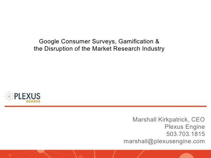 Presentation by Marshall Kirkpatrick, CEO, Plexus Engine