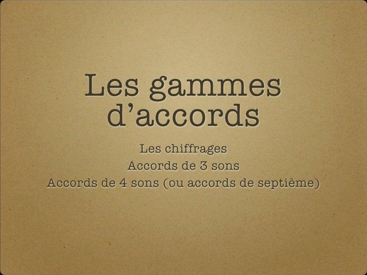 Gammes Daccords