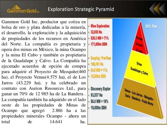 Gammon Gold Inc. productor que cotiza en bolsa de oro y plata dedicadas a la minería, el desarrollo, la exploración y la a...
