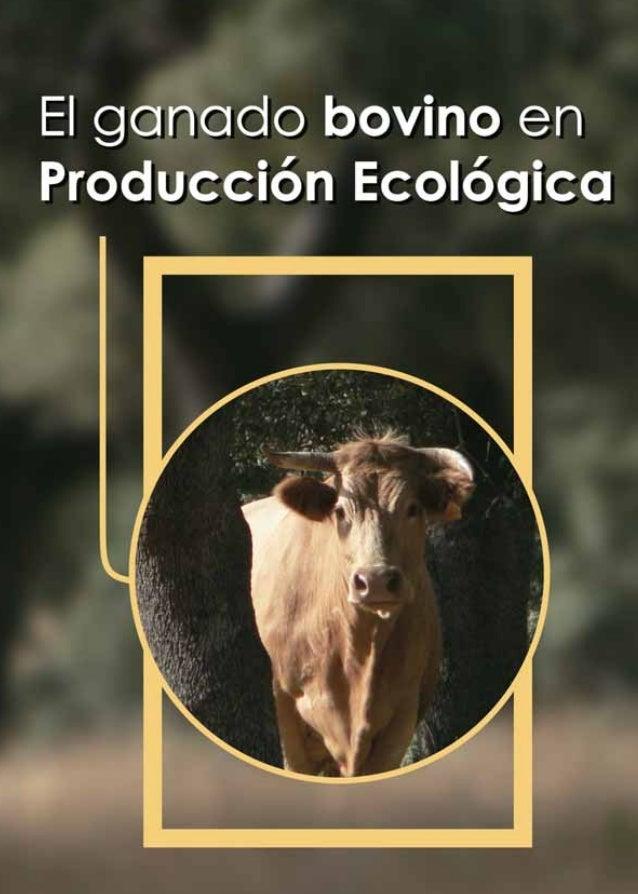Cover of El ganado bovino en producción ecológica