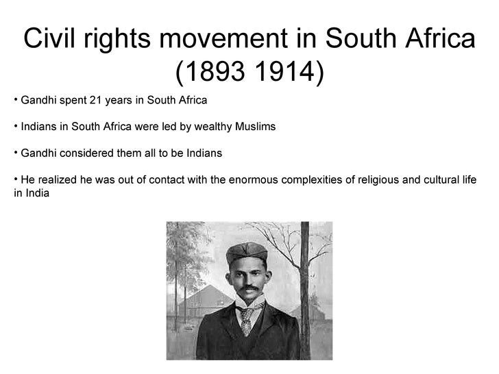 Gandhi Civil Rights Movement Civil Rights Movement in South