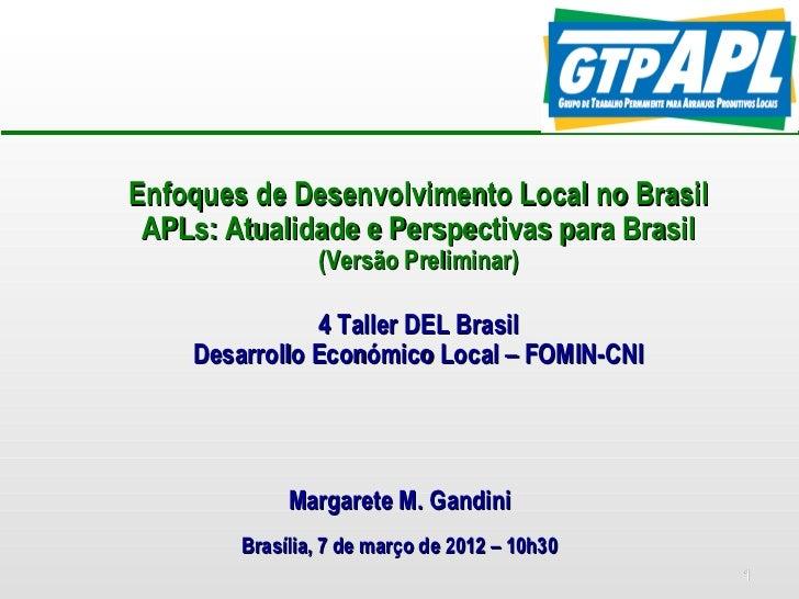 Perpectivas para Brasil em desenvolvimento local - Margarete Gandini