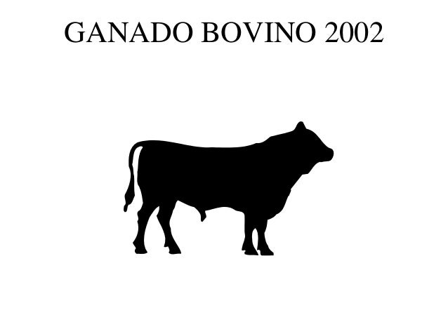 GANADO BOVINO 2002