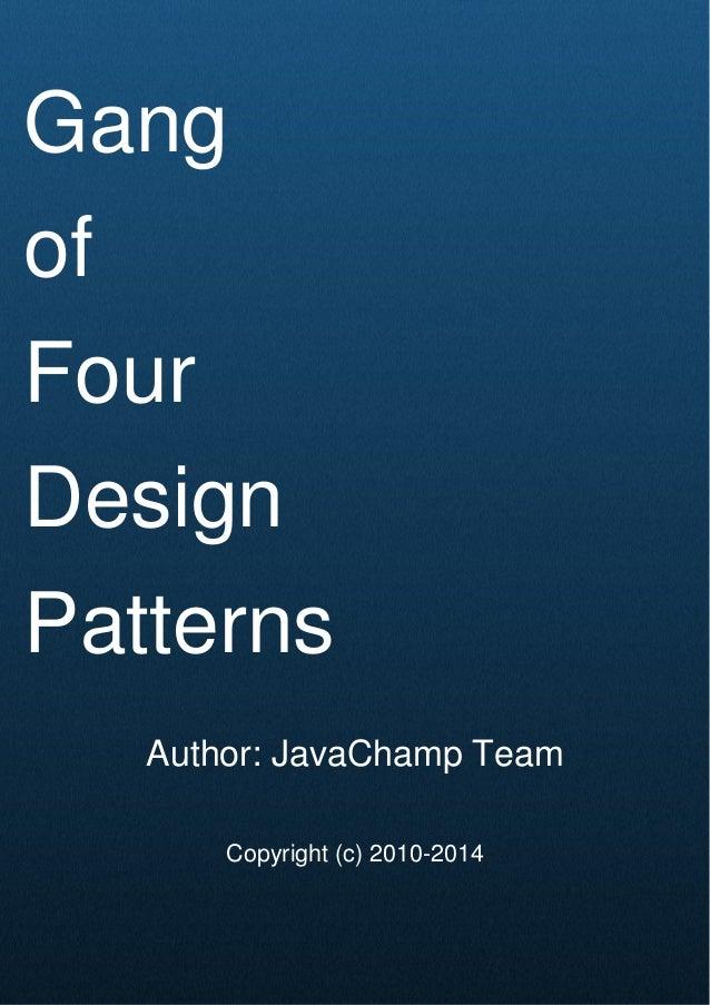 Gang Of Four Java Design Patterns Mock Exam