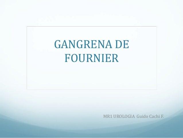 Gangrena fournier