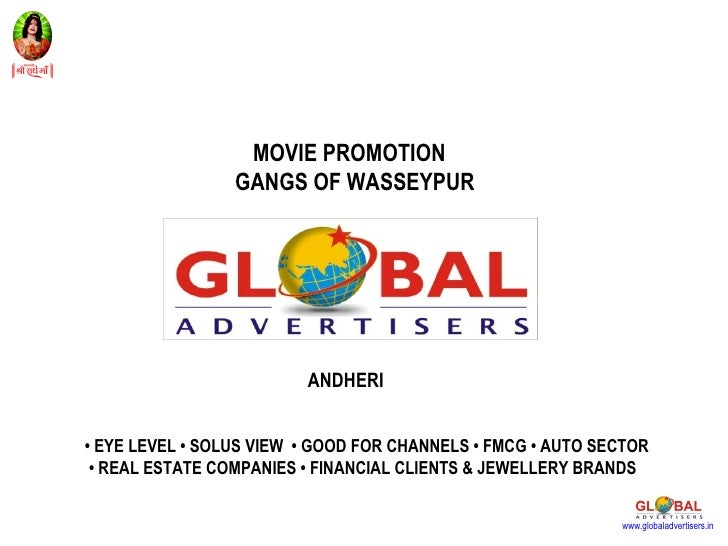 Movie Gangs Of Wasseypur Film Promotion - Global Advertisers