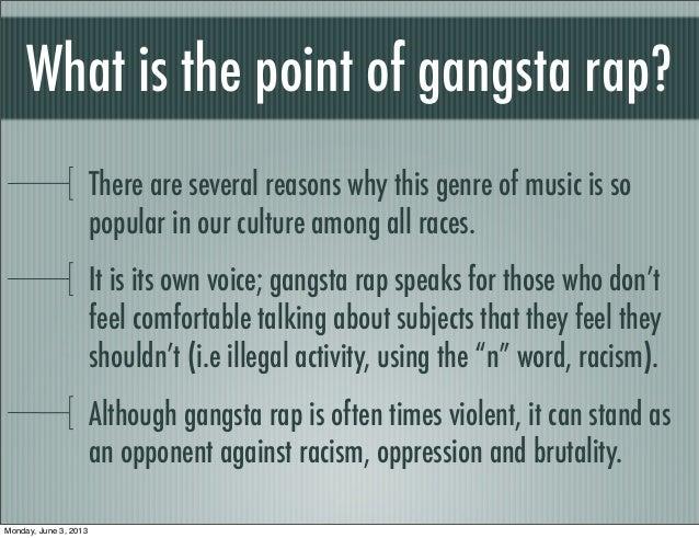 gangsta rap american culture essay
