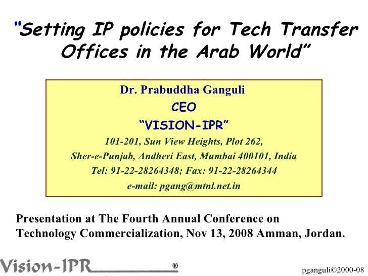 "Dr. Prabuddha Ganguli  CEO "" VISION-IPR"" 101-201, Sun View Heights, Plot 262, Sher-e-Punjab, Andheri East, Mumbai 400101, ..."