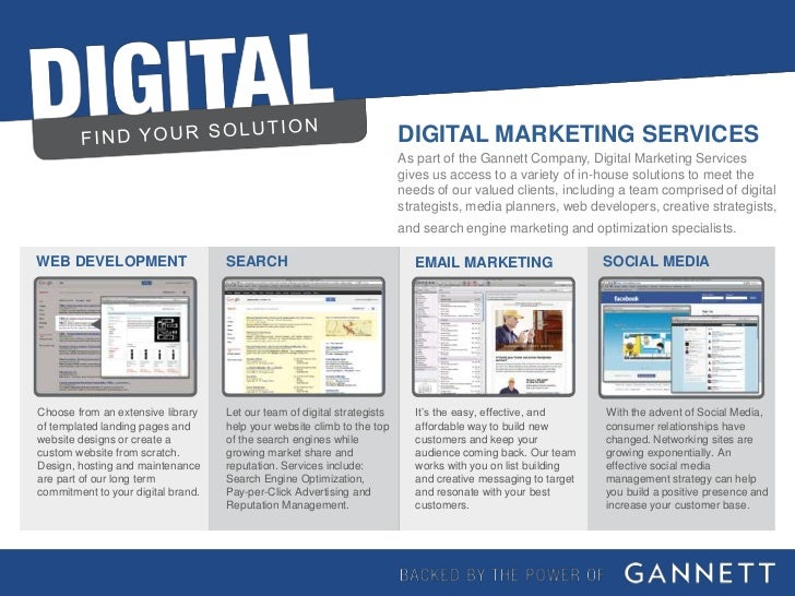 DIGITAL MARKETING SERVICES                                                                          As part of the Gannett...
