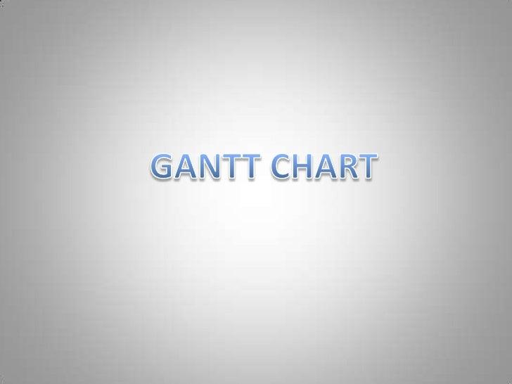 Gantt chart for work on powerpoint