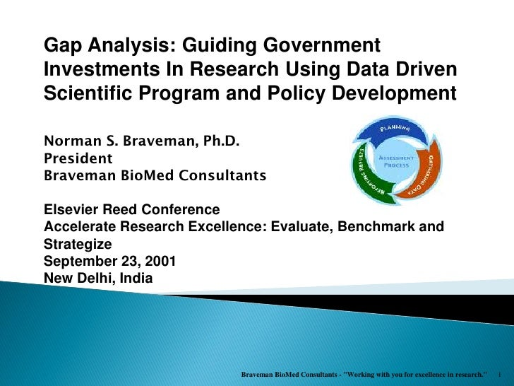 Gap Analysis: Guiding GovernmentInvestments In Research Using Data DrivenScientific Program and Policy DevelopmentNorman S...