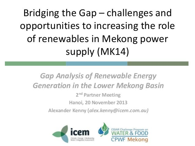 Gap analysis of renewable energy generation in the lower mekong basin