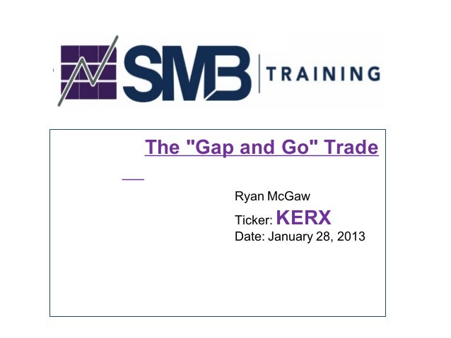 "The ""Gap and Go"" Trade        Ryan McGaw              KERX        Ticker:        Date: January 28, 2013"