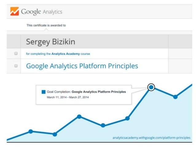 Google Analytics Platform Principles (Certificate of Completion)