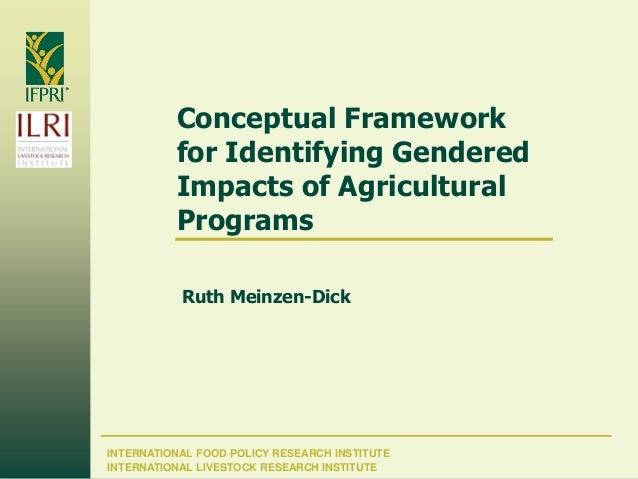 INTERNATIONAL FOOD POLICY RESEARCH INSTITUTE Conceptual Framework for Identifying Gendered Impacts of Agricultural Program...