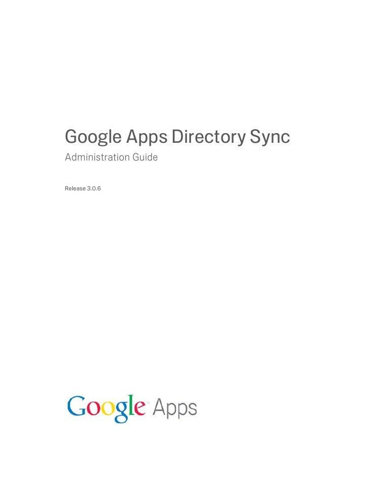 Gapps Directory Sync