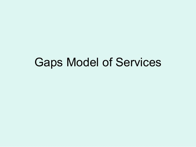 Gaps model of services iims