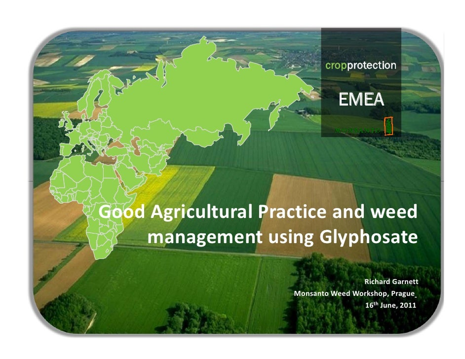Gap & weed managment with glyphosate