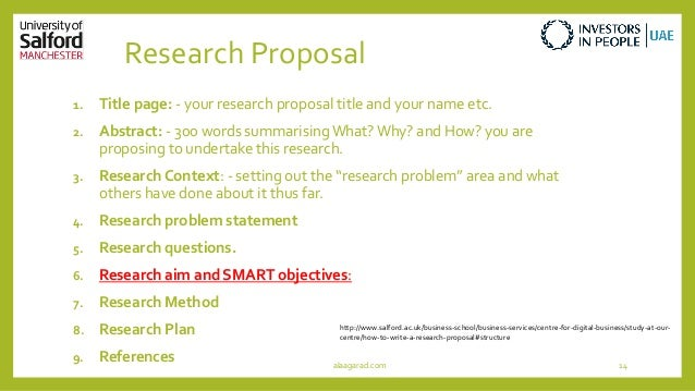 Research Proposal Title Page Title Page Your Research