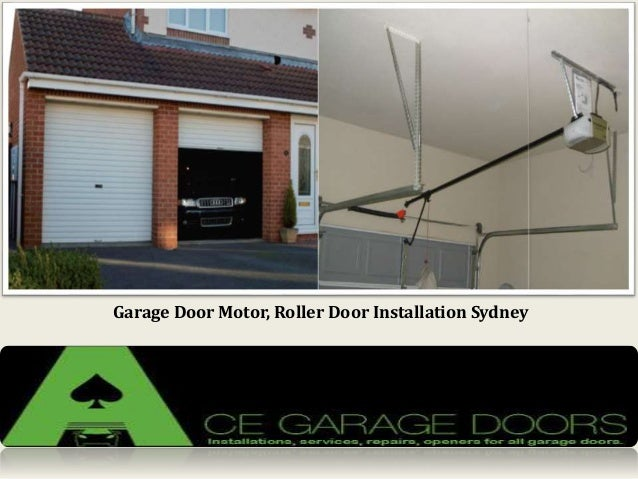 Garage door motor roller door installation in sydney for Cost of garage door motor installation