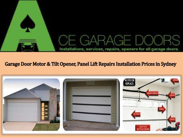 Garage door motors panel lift installation prices in sydney for Cost of garage door motor installation