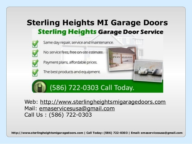 Garage Door Repair Sterling Heights Mi