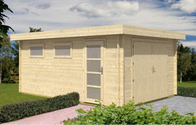Garage in legno, garage prefabbricato in legno, box auto legno