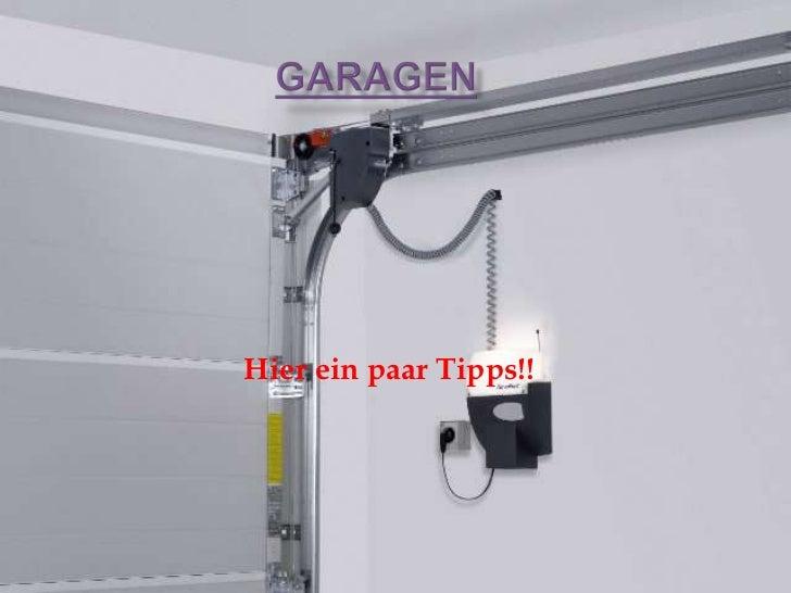 Garagen Installation Präsentation