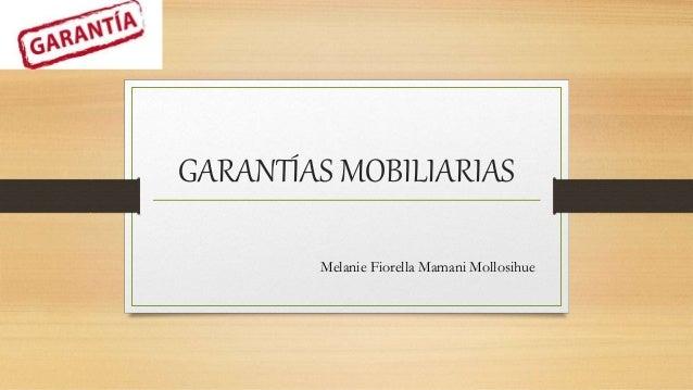 GARANTÍAS MOBILIARIAS Melanie Fiorella Mamani Mollosihue