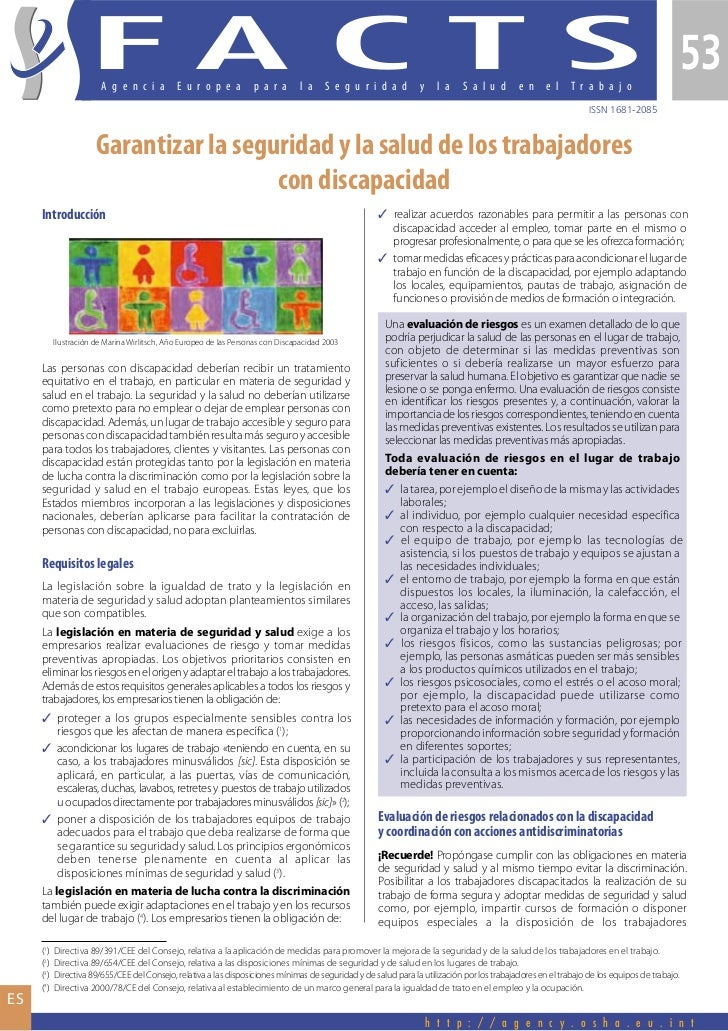Garantizar la seguridad y la salud de los trabajadores