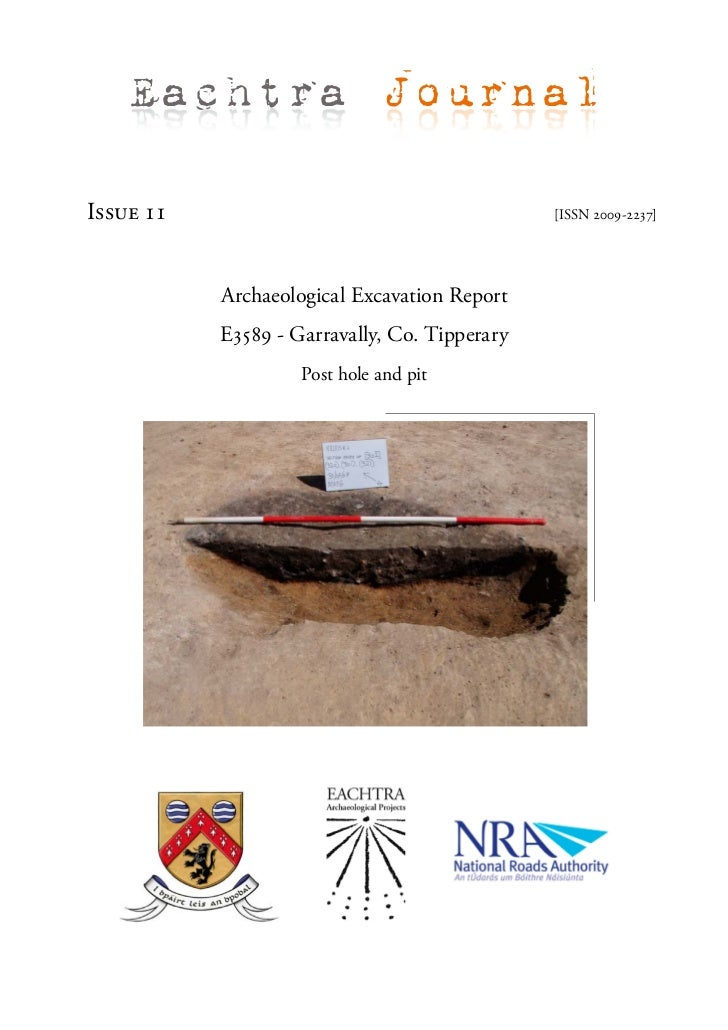 Archaeological Report - Garavally, Co. Tipperary (Ireland)