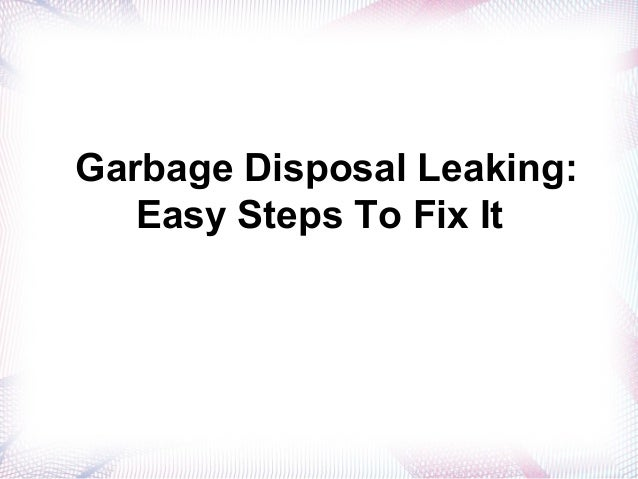 how to fix food disposal