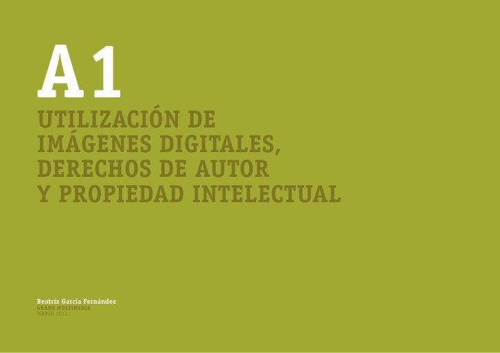 A1Utilización deimágenes digitales,derechos de autory propiedad intelectualBeatriz García FernándezGrado MultimediaMarzo 2...