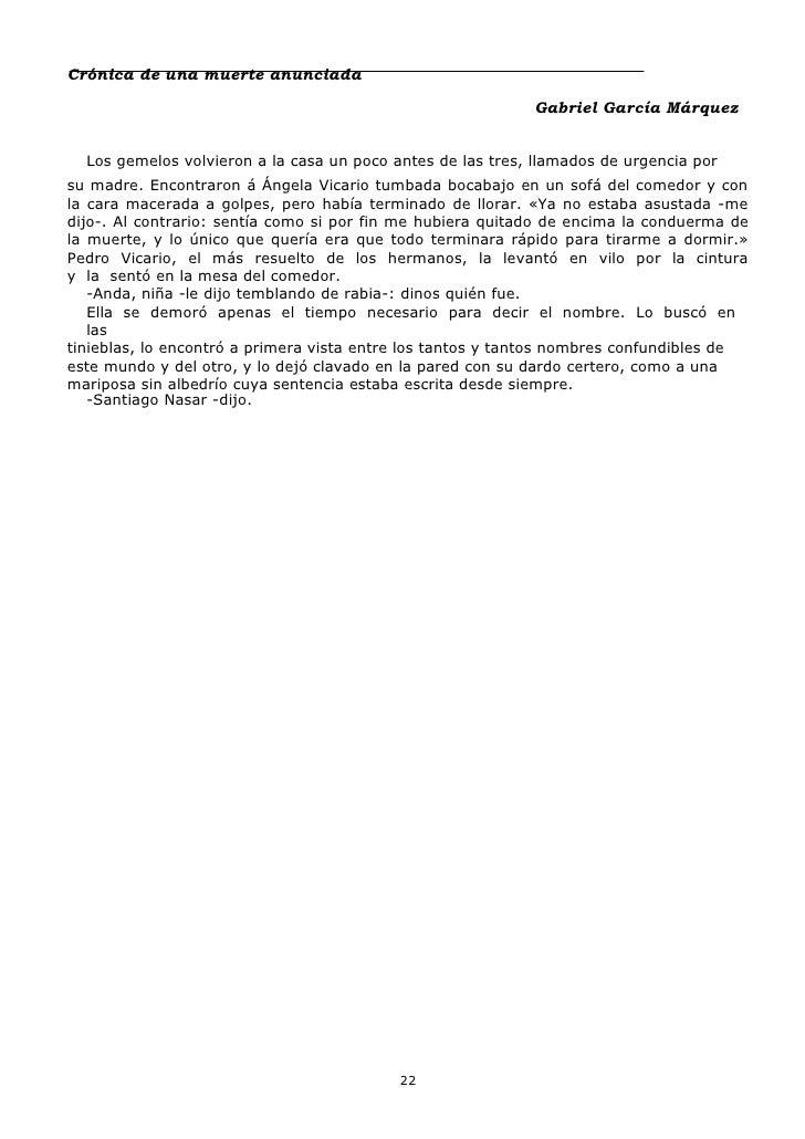 cronica de una muerte anunciada pdf