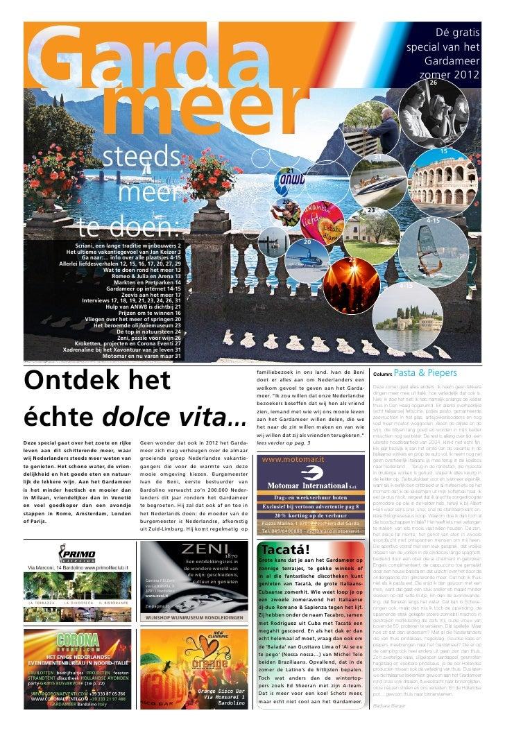 Gardameer zomerkrant 2012 - Dé gratis special van het Gardameer