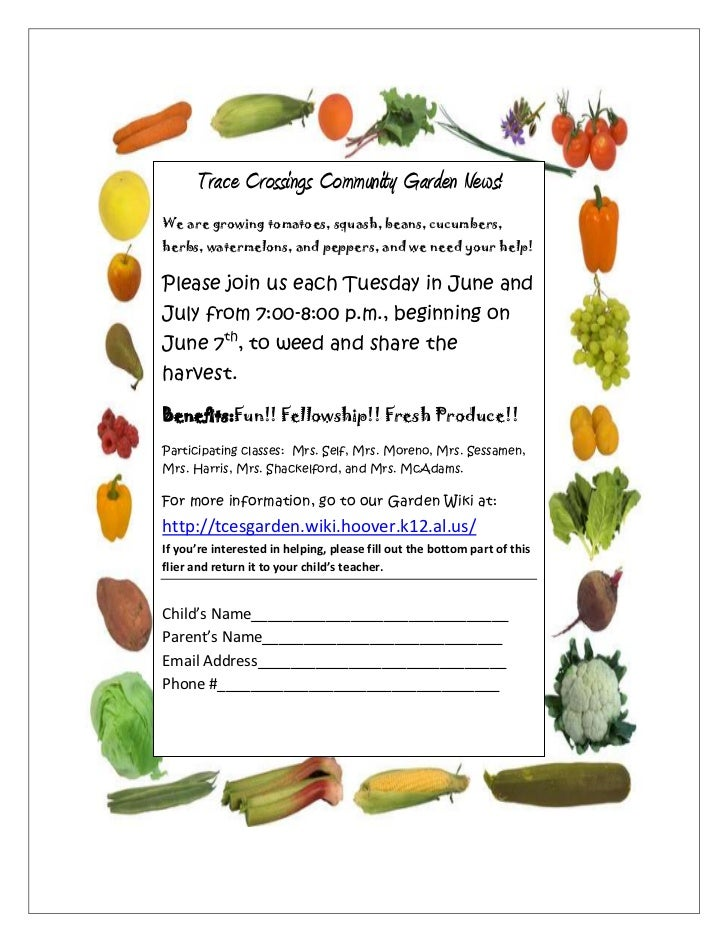 723900809625Trace Crossings Community Garden News!We are growing tomatoes, squash, beans, cucumbers, herbs, watermelons, a...