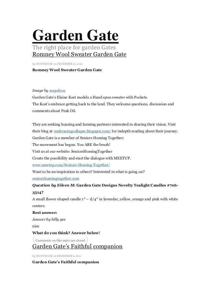 Garden GateThe right place for garden GatesRomney Wool Sweater Garden Gateby HOSTMEI R on DECEMBER 10, 2011Romney Wool Swe...