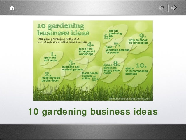 10 gardening business ideas you can start at home