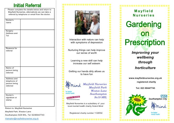 Gardening on Prescription: Improving your Wellbeing through Horticulture