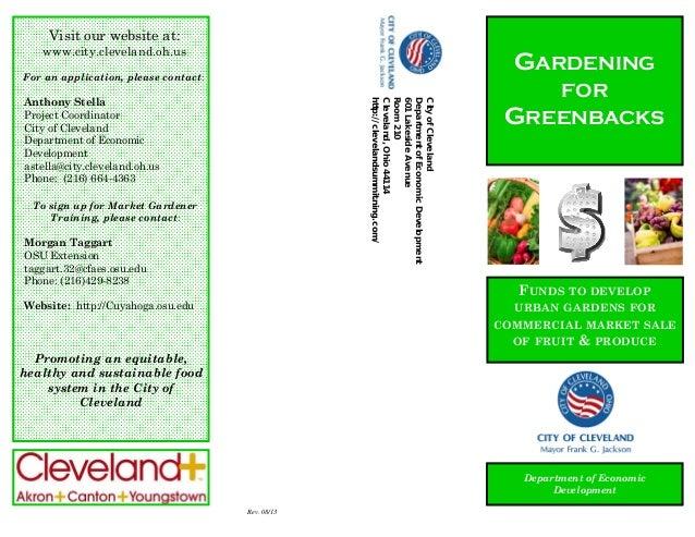 Big Ideas for Small Business: Gardening for Greenbacks Brochure 2013