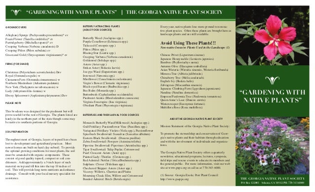 Gardening with Native Plants - Georgia Nativfe Plant Society
