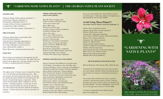 Gardening with Native Plants - Georgia Nativfe Plant Society