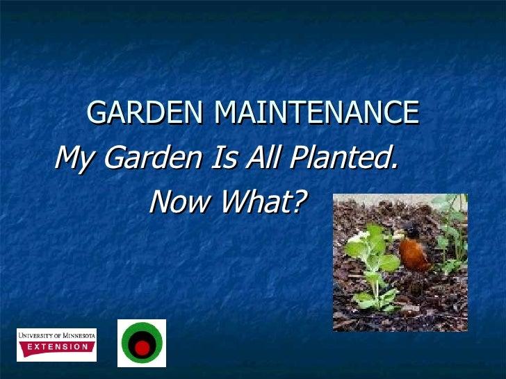 Garden Maintenance Rev